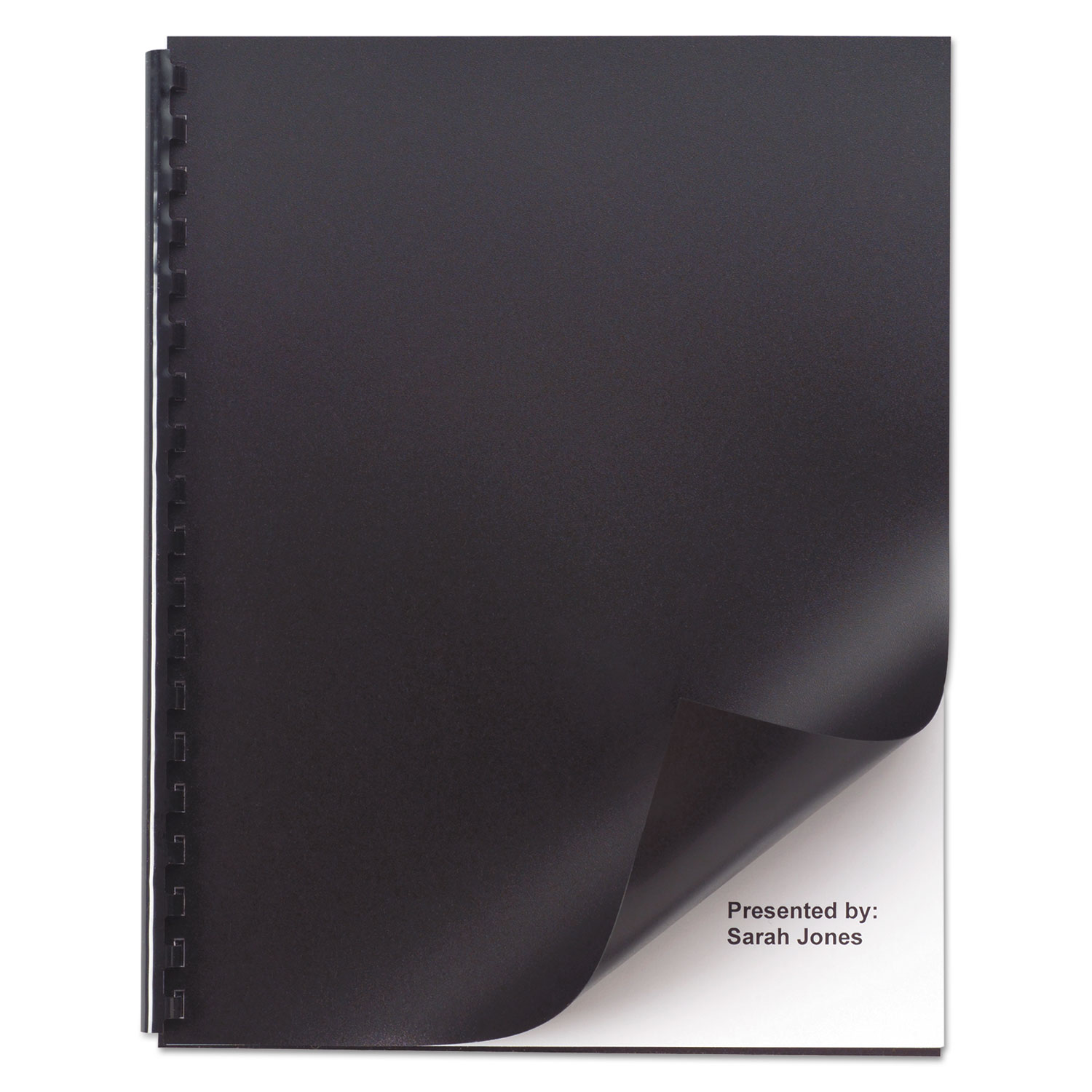 Opaque Plastic Presentation Binding System Covers, 11 x 8 1/2, Black, 50/Pack