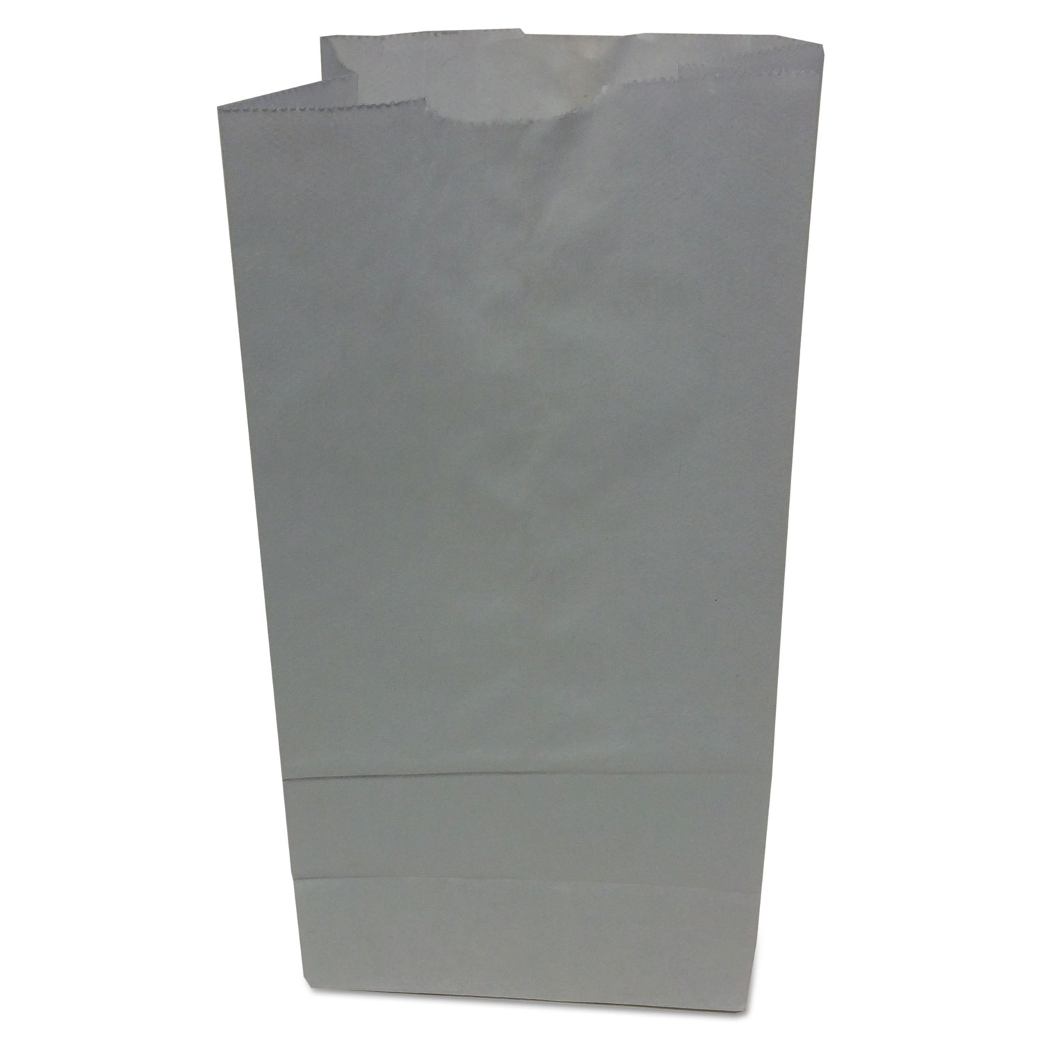 """Grocery Paper Bags, 35 lbs Capacity, #5, 5.25""""w x 3.44""""d x 10.94""""h, White, 500 Bags BAGGW5500"""