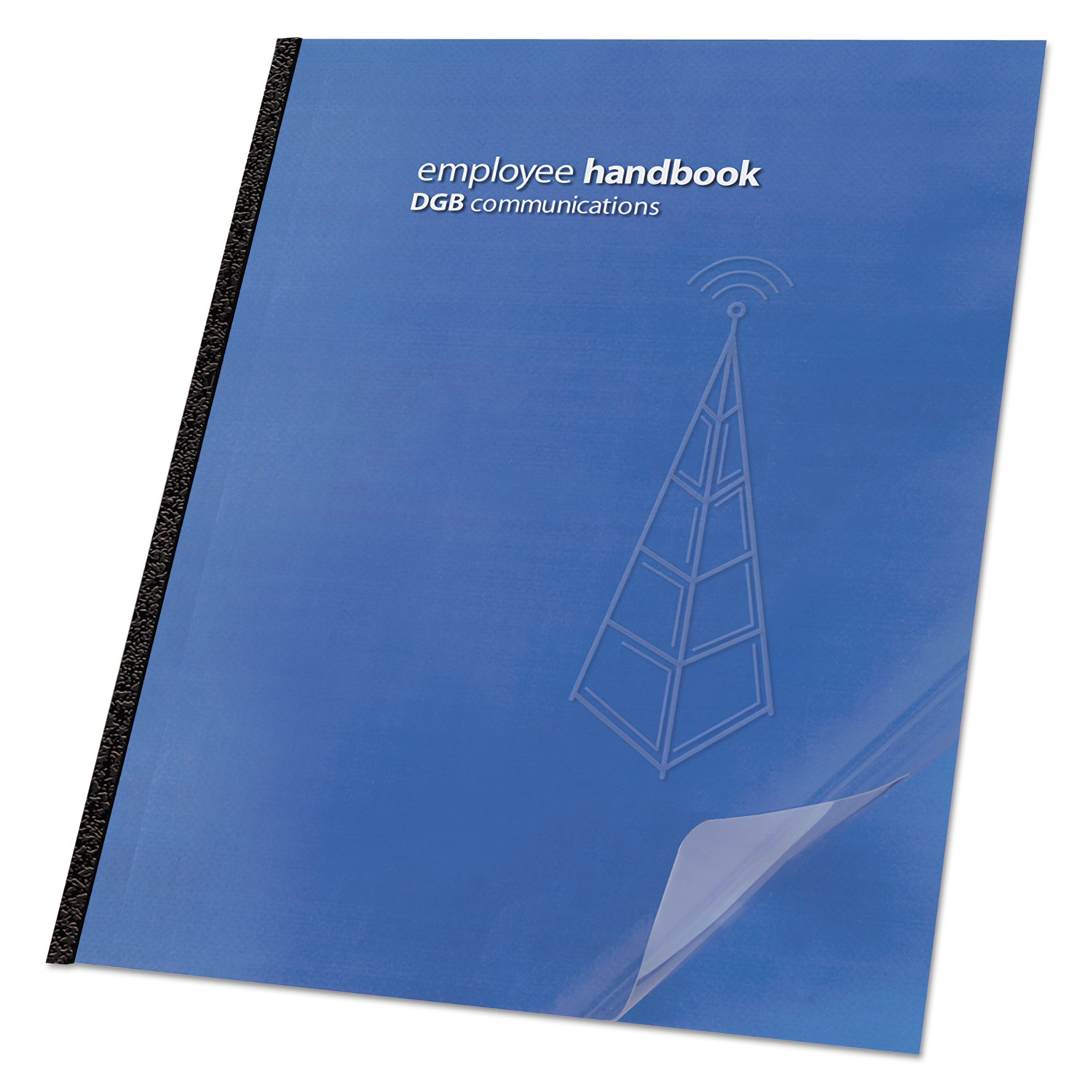 Clear View Presentation Binding System Cover, 11 1/4 x 8 3/4, Clear, 25/Pack