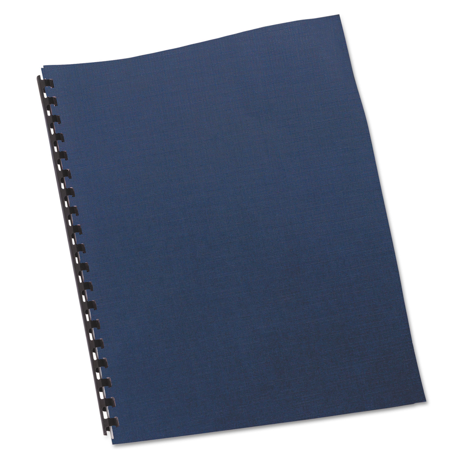 Linen Textured Binding System Covers, 11 x 8 1/2, Navy, 200/Box