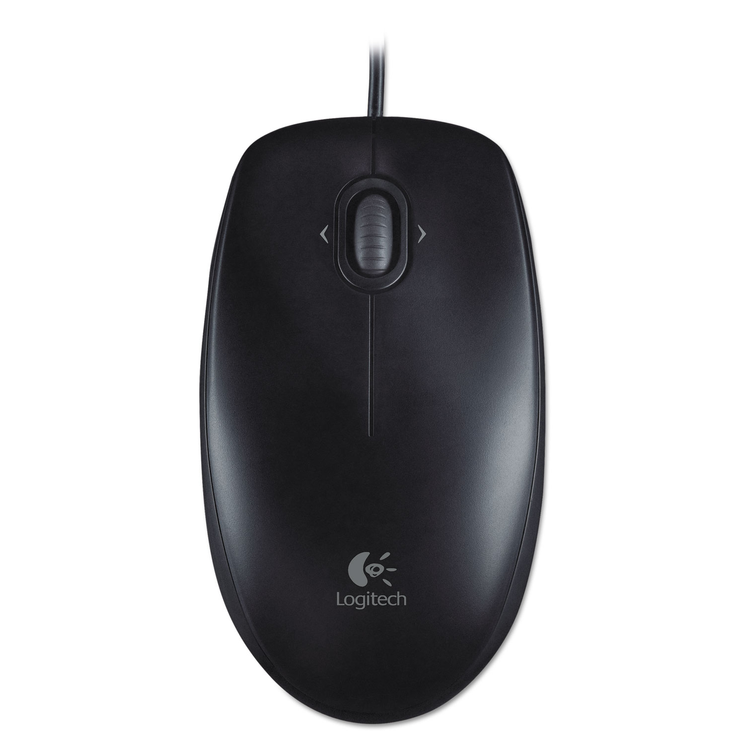M100 Corded Optical Mouse, USB 2.0, Left/Right Hand Use, Black