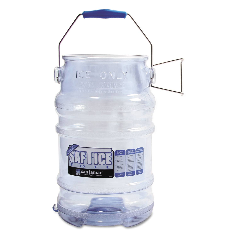 Saf-T-Ice Tote, 6gal Capacity, Transparent Blue