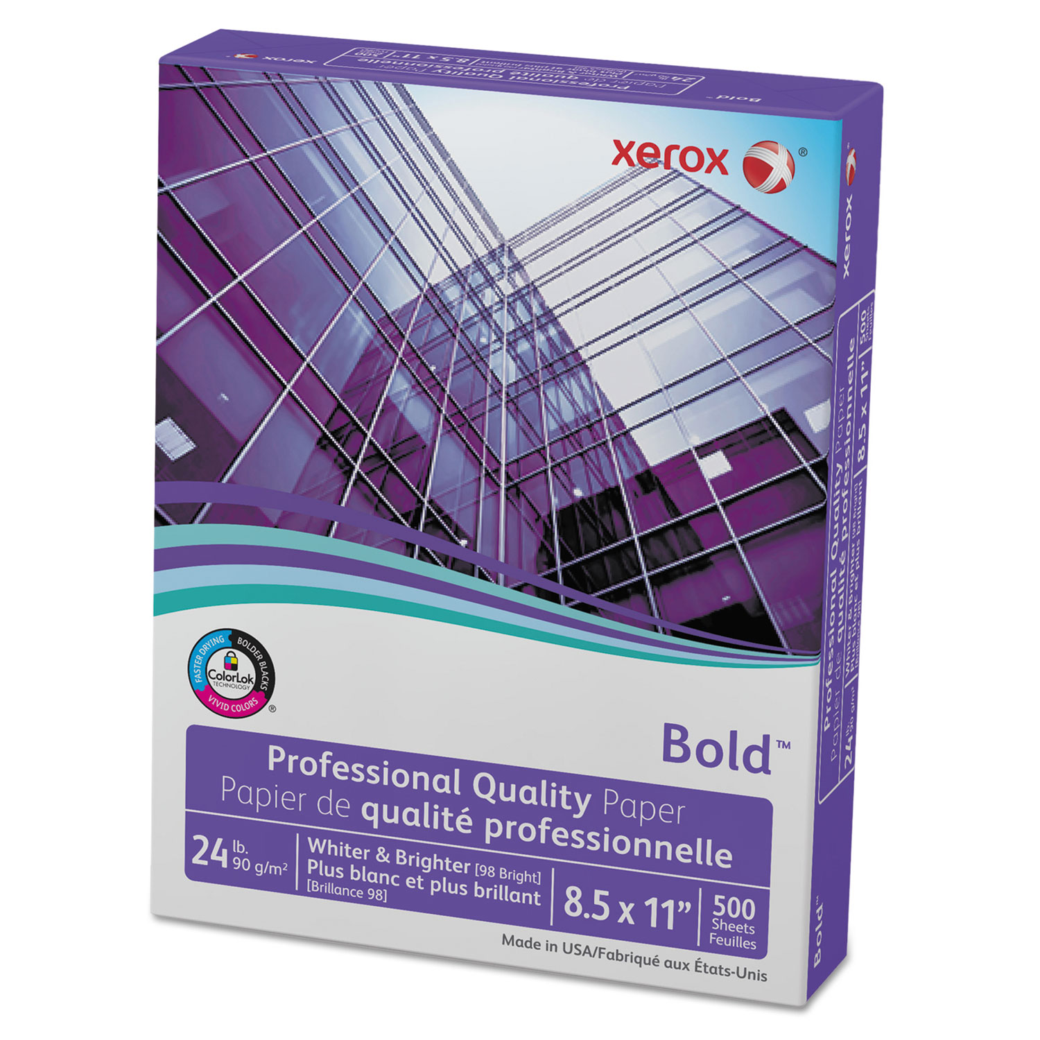 Bold Professional Quality Paper, 98 Bright, 24lb, 8.5 X 11, White, 500/Ream