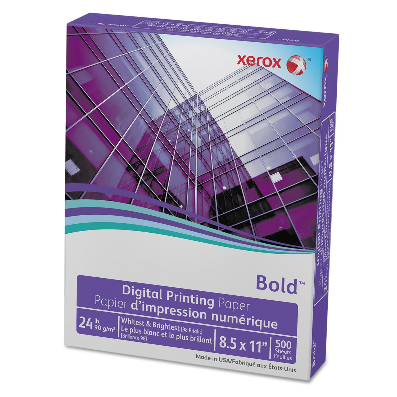 Bold Digital Printing Paper, 98 Bright, 24lb, 8.5 X 11, White, 500/Ream