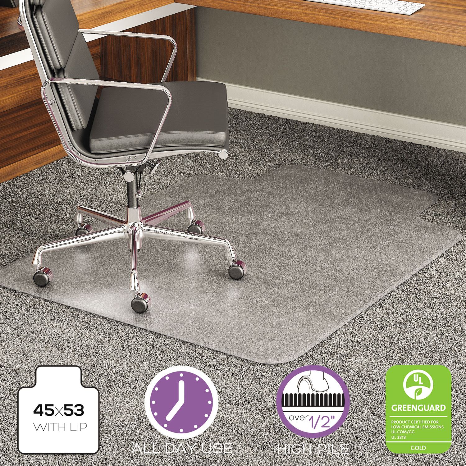 Execumat Intense All Day Use Chair Mat For High Pile