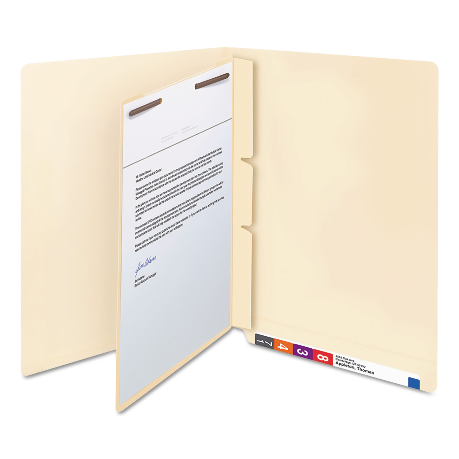 Manila Self-Adhesive End/Top Tab Folder Dividers By Smead