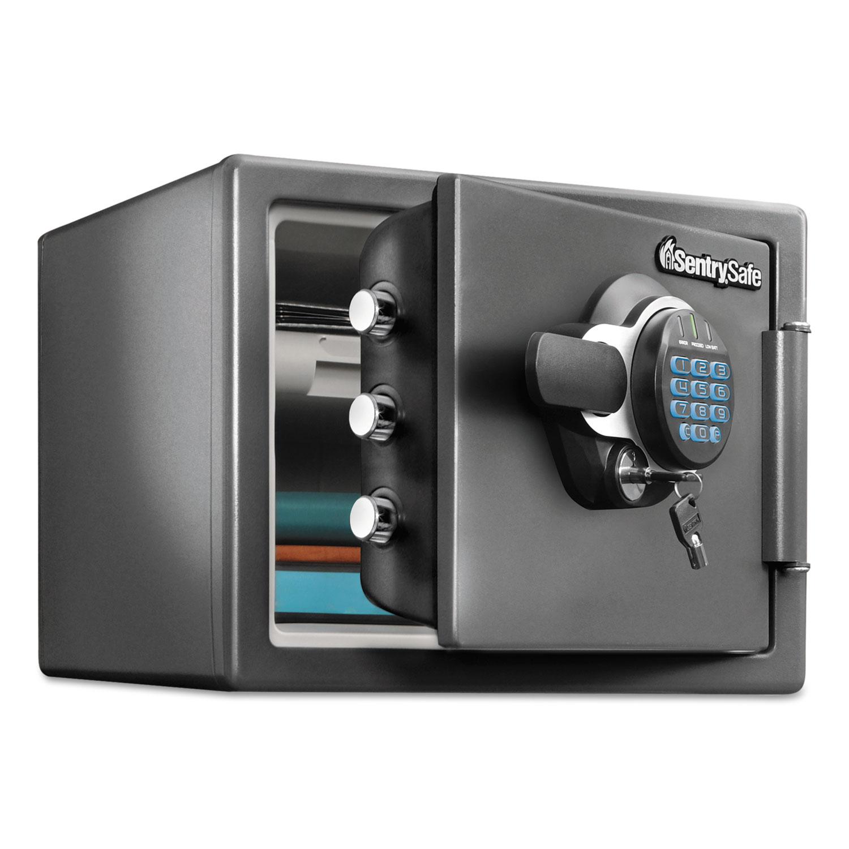 Fire-Safe with Digital Keypad Access, 0.8 cu ft, 16.3w x 19.3d x 13.7h, Black