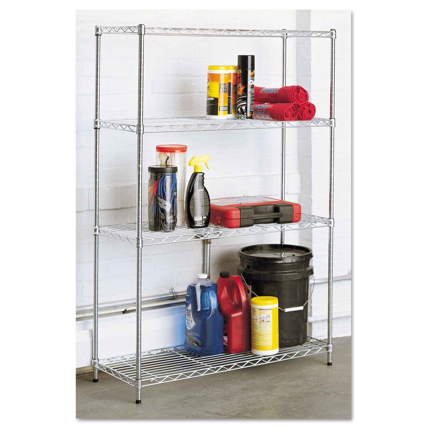 Residential Wire Shelving by Alera® ALESW843614SR - OnTimeSupplies.com