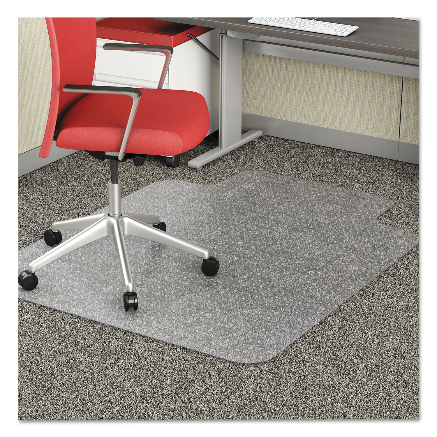 economat occasional use chair mat for low pile by deflecto