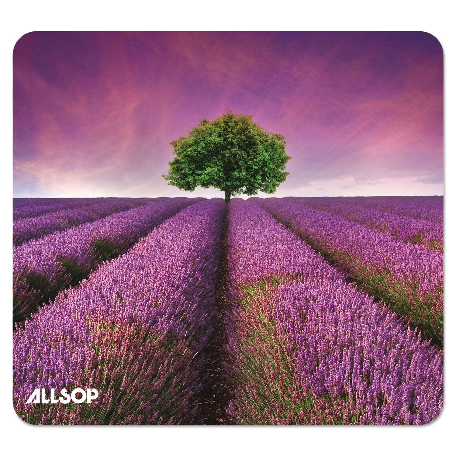 Naturesmart Mouse Pad, Lavender Field Design, 8 1/2 x 8 x 1/10