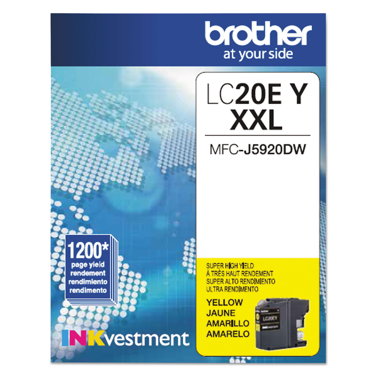 LC20EY INKvestment Super High-Yield Ink, 1200 Page-Yield, Yellow