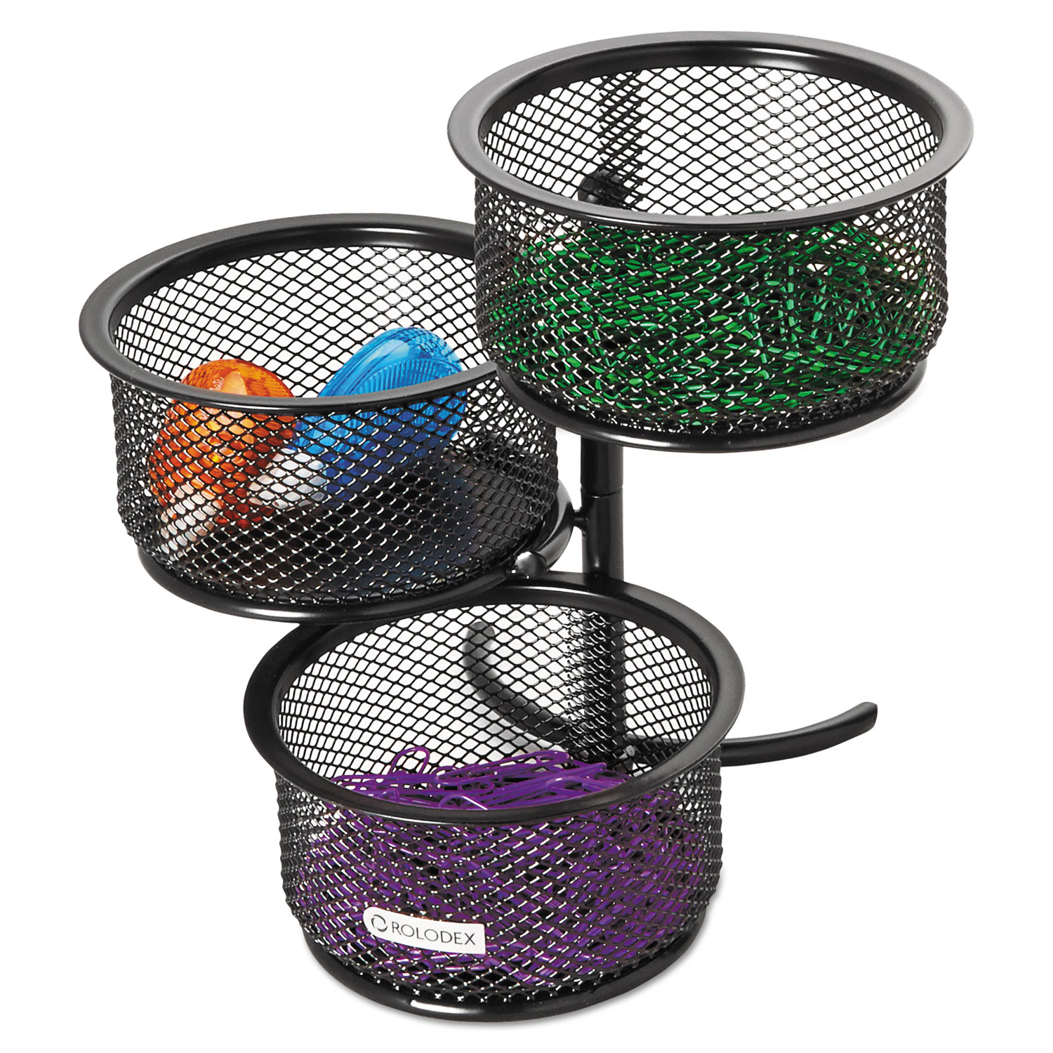 3 Tier Wire Mesh Swivel Tower Paper Clip Holder by Rolodex™ ROL62533 ...