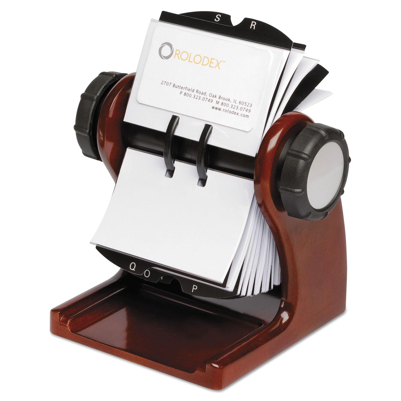 Wood tones open rotary business card file holds 400 2 58 x 4 cards wood tones open rotary business card file holds 400 2 58 x 4 cards mahogany colourmoves