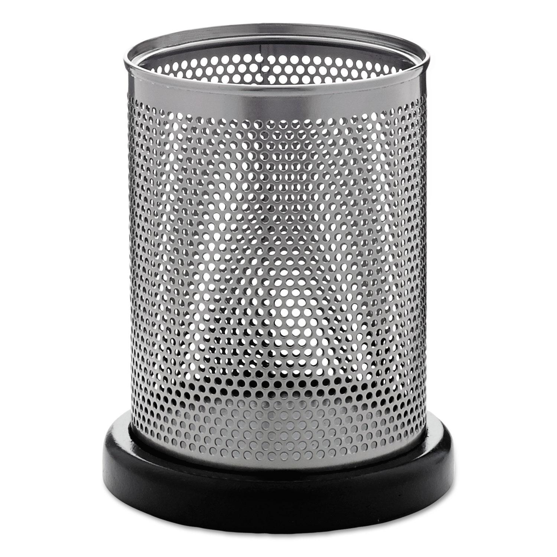 Distinctions Pencil Cup, 3 1/2 dia. x 4 1/2, Metal/Black
