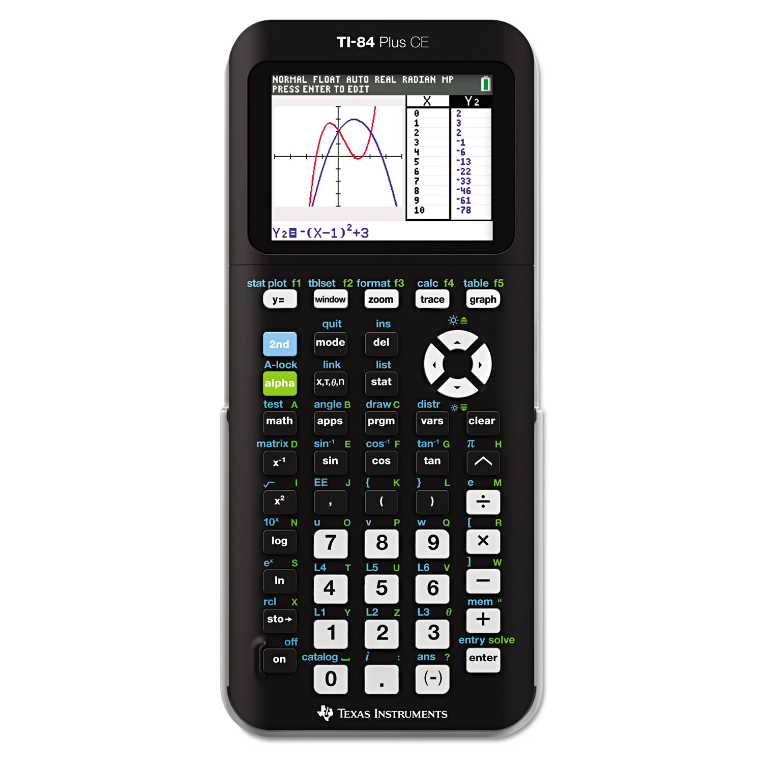 TI-84 Plus CE Programmable Color Graphing Calculator