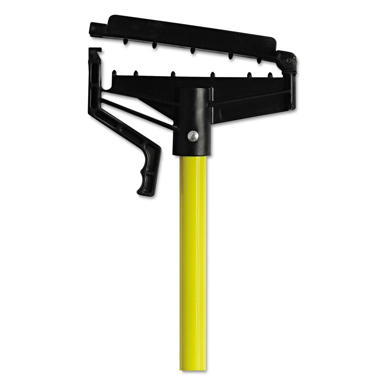 Quick-Change Mop Handle, 60, Fiberglass, Yellow
