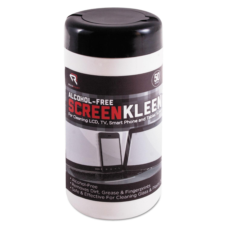 ScreenKleen Monitor Screen Wet Wipes, Cloth, 5 1/4 x 5 3/4, 50/Tub