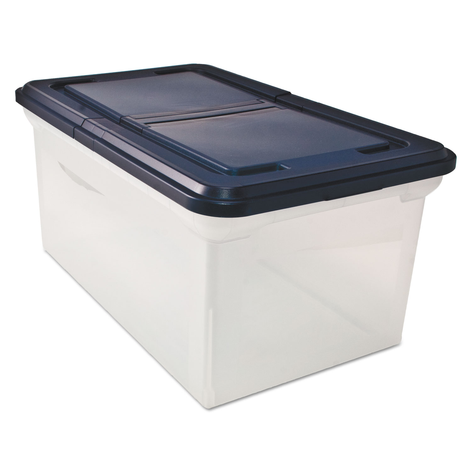 file tote with hinged lid by innovative storage designs. Black Bedroom Furniture Sets. Home Design Ideas