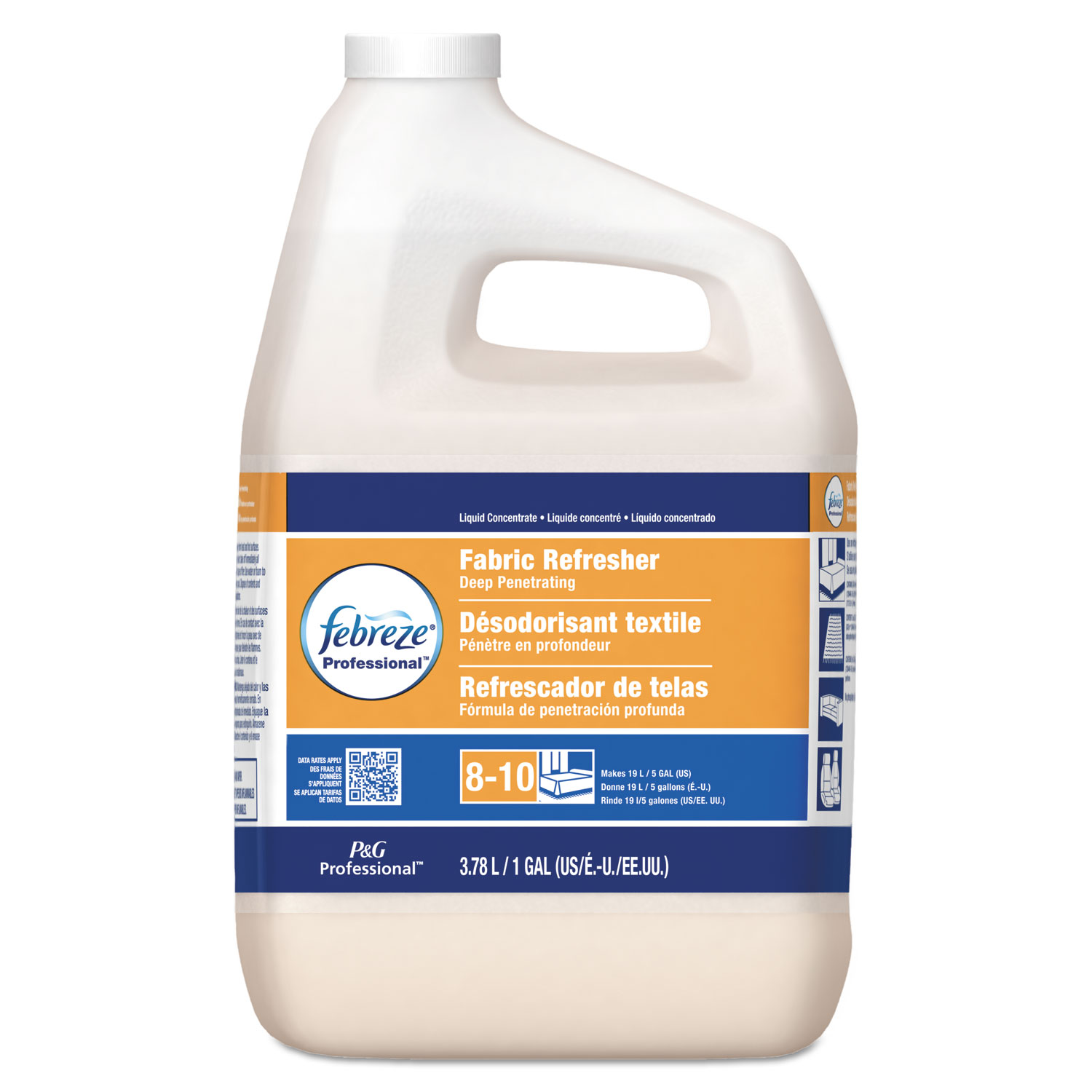 Professional Deep Penetrating Fabric Refresher, 5X Concentrate, 1 gal, 2/Carton