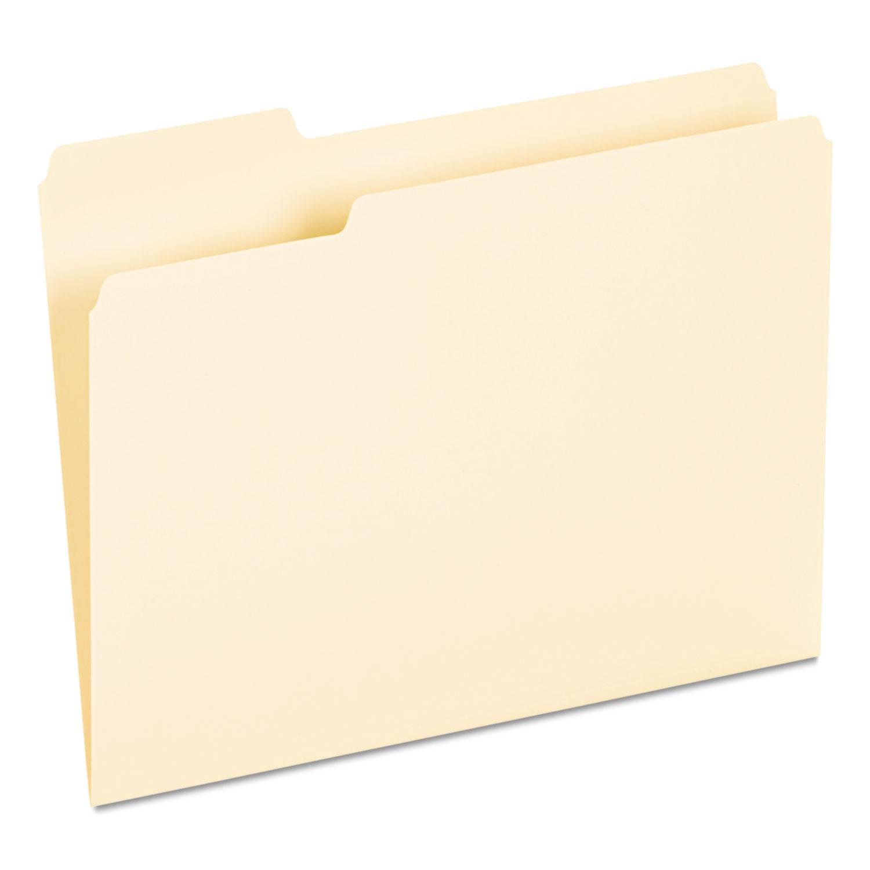 Interior File Folders, 1/3-Cut Tabs, Letter Size, Manila, 100/Box
