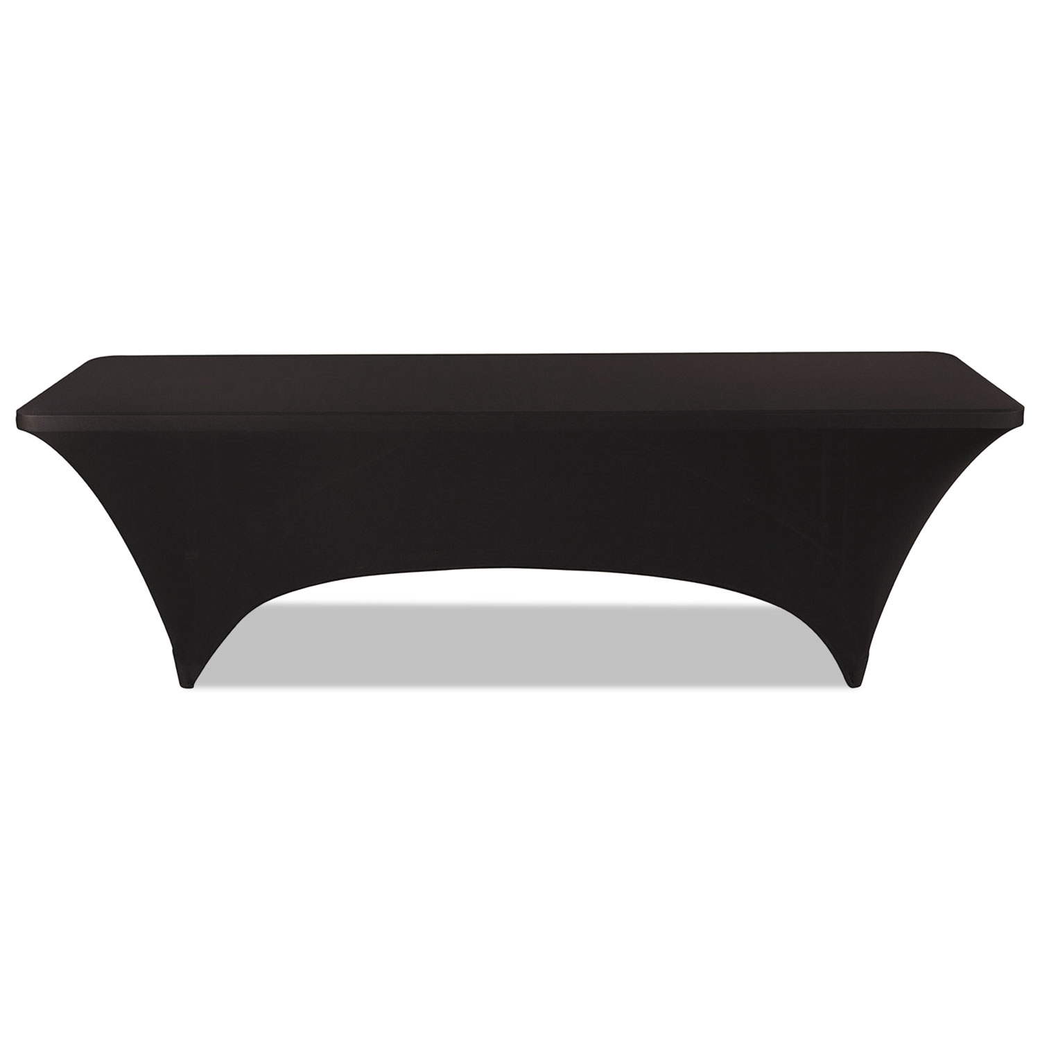 """Stretch-Fabric Table Cover, Polyester/Spandex, 30"""" x 96"""", Black"""