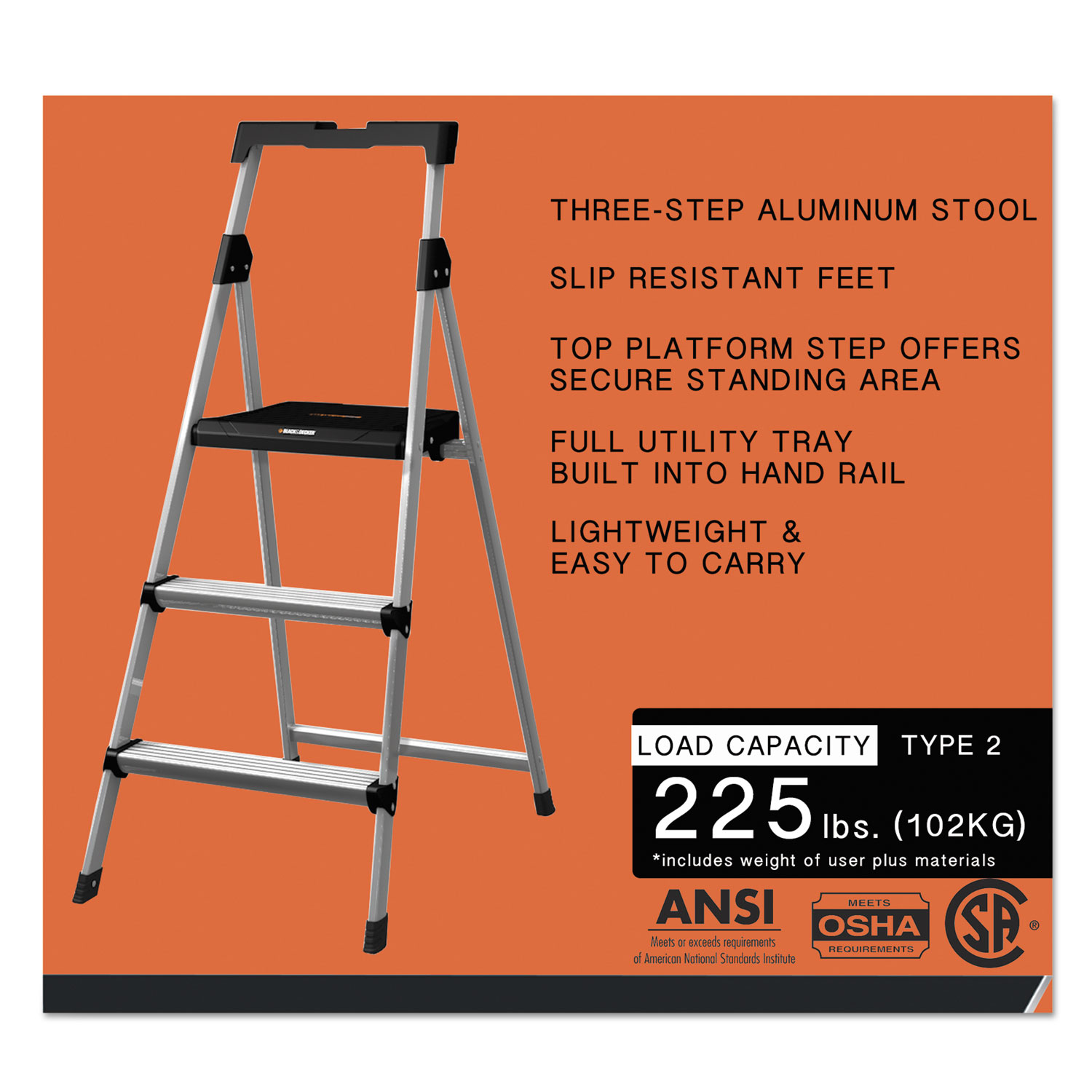 Aluminum Step Stool Ladder By Louisville 174 Dadbxl226003s