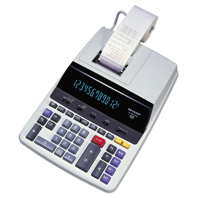 EL2630PIII Two-Color Printing Calculator, Black/Red Print, 4.8 Lines/Sec