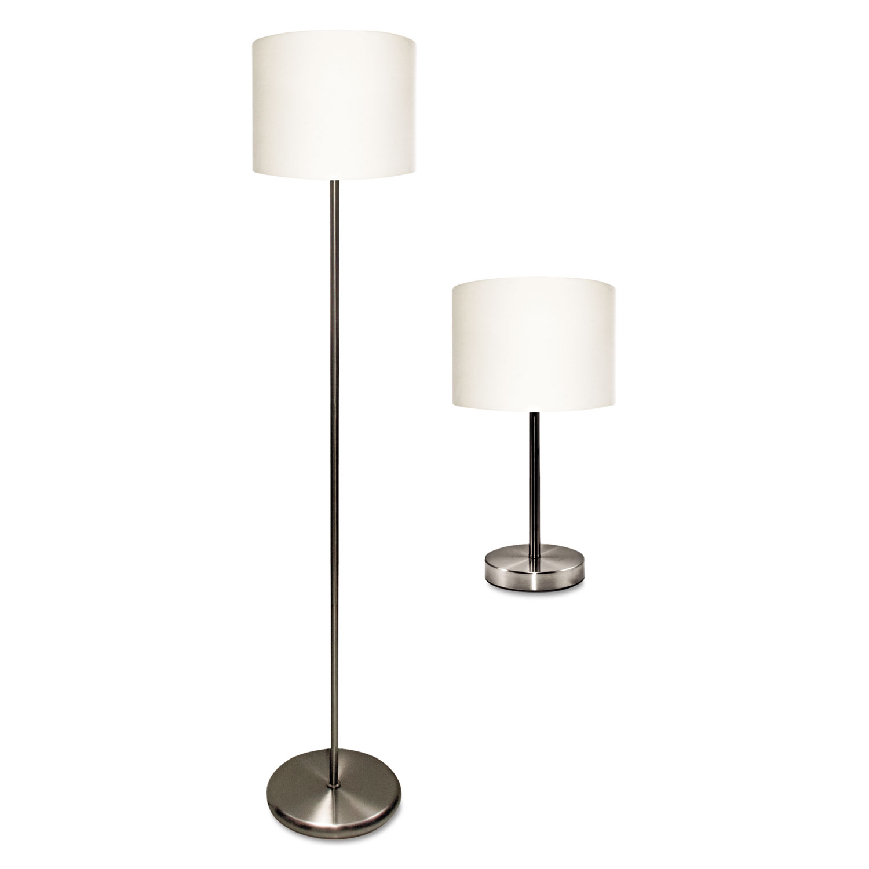 "Slim Line Lamp Set, Table 12 5/8"" High and Floor 61.5"" High, 12"""