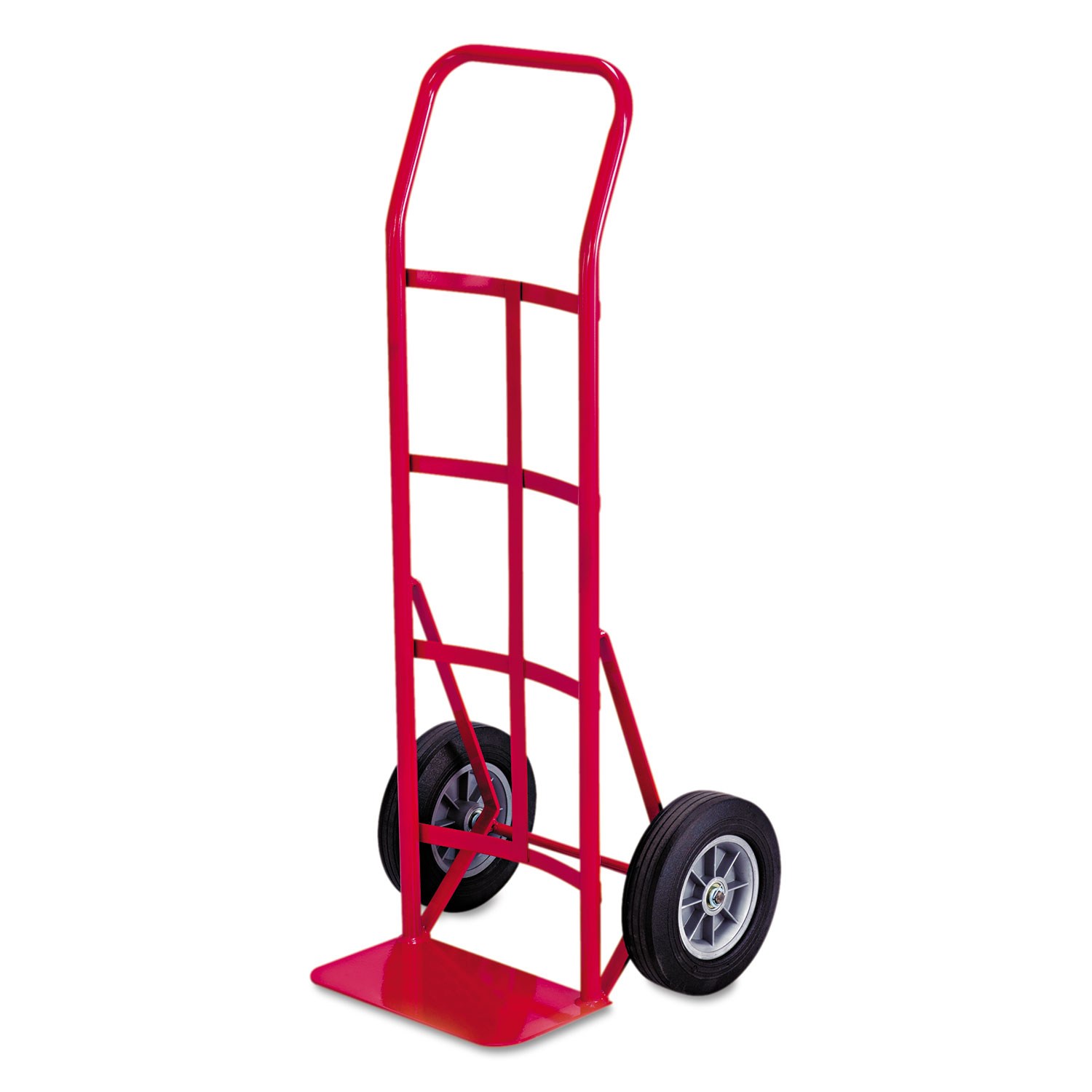 Two-Wheel Steel Hand Truck, 500 lb Capacity, 18 x 44, Red