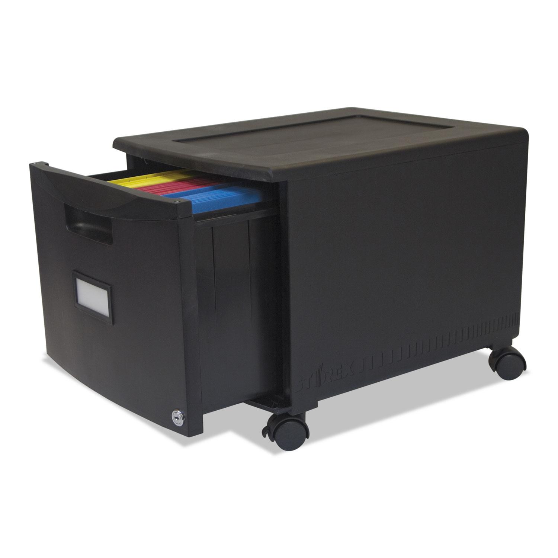 Stx61264b01c Storex Single Drawer Mobile Filing Cabinet Zuma