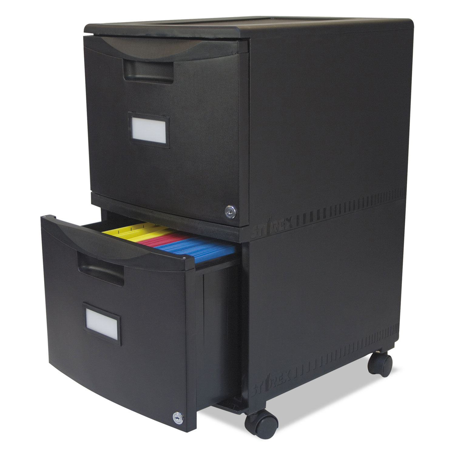 Two Drawer Mobile Filing Cabinet By Storex Stx61312b01c