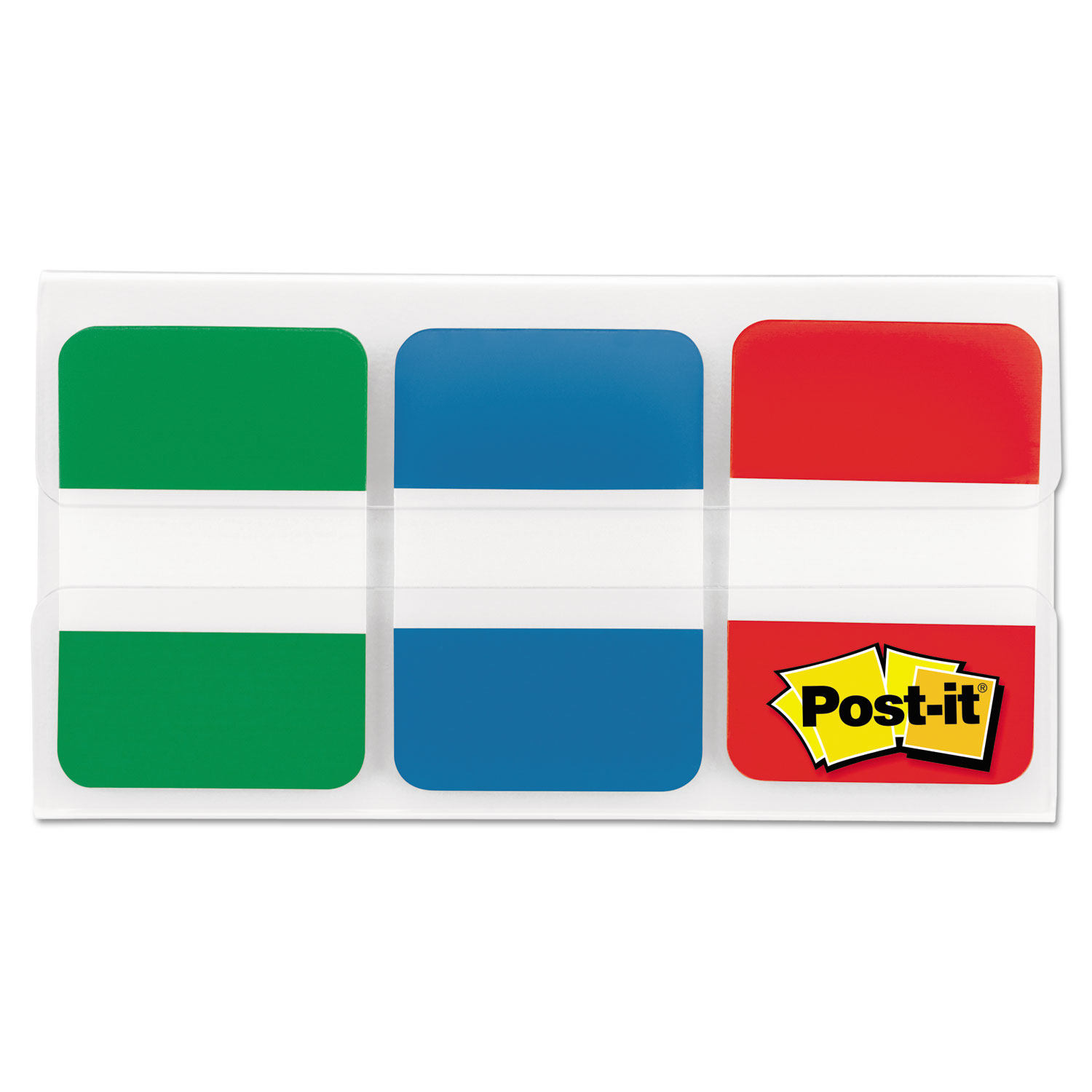 """1"""" Tabs, 1/5-Cut Tabs, Assorted Primary Colors, 1"""" Wide, 66/Pack"""