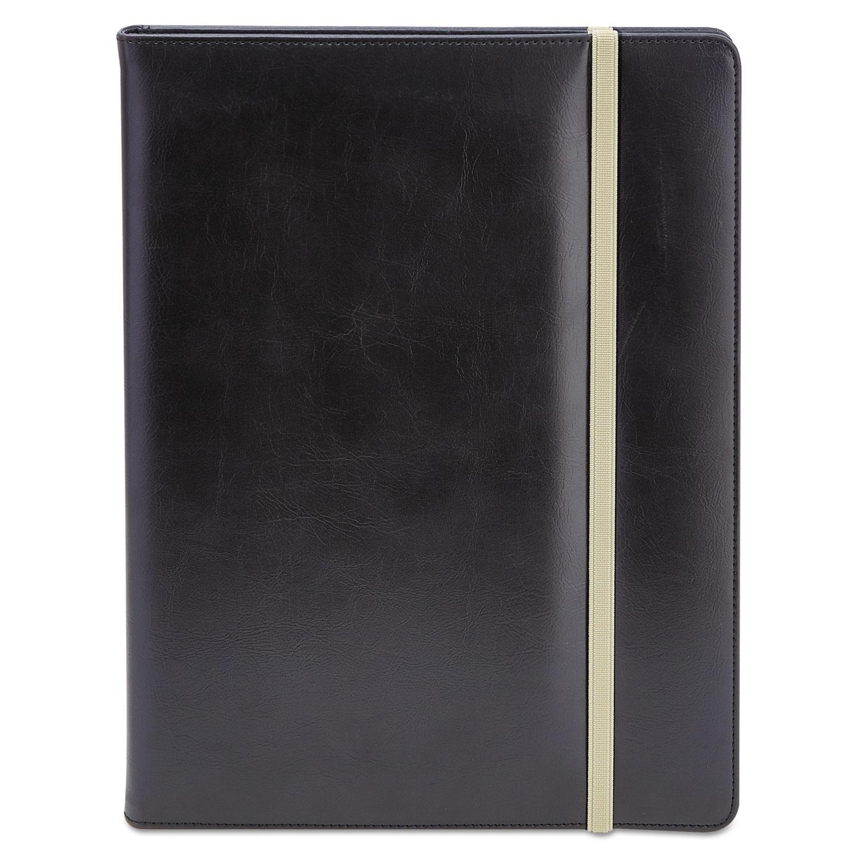 Padfolio, 8 1/2 x 11, Vinyl, Black