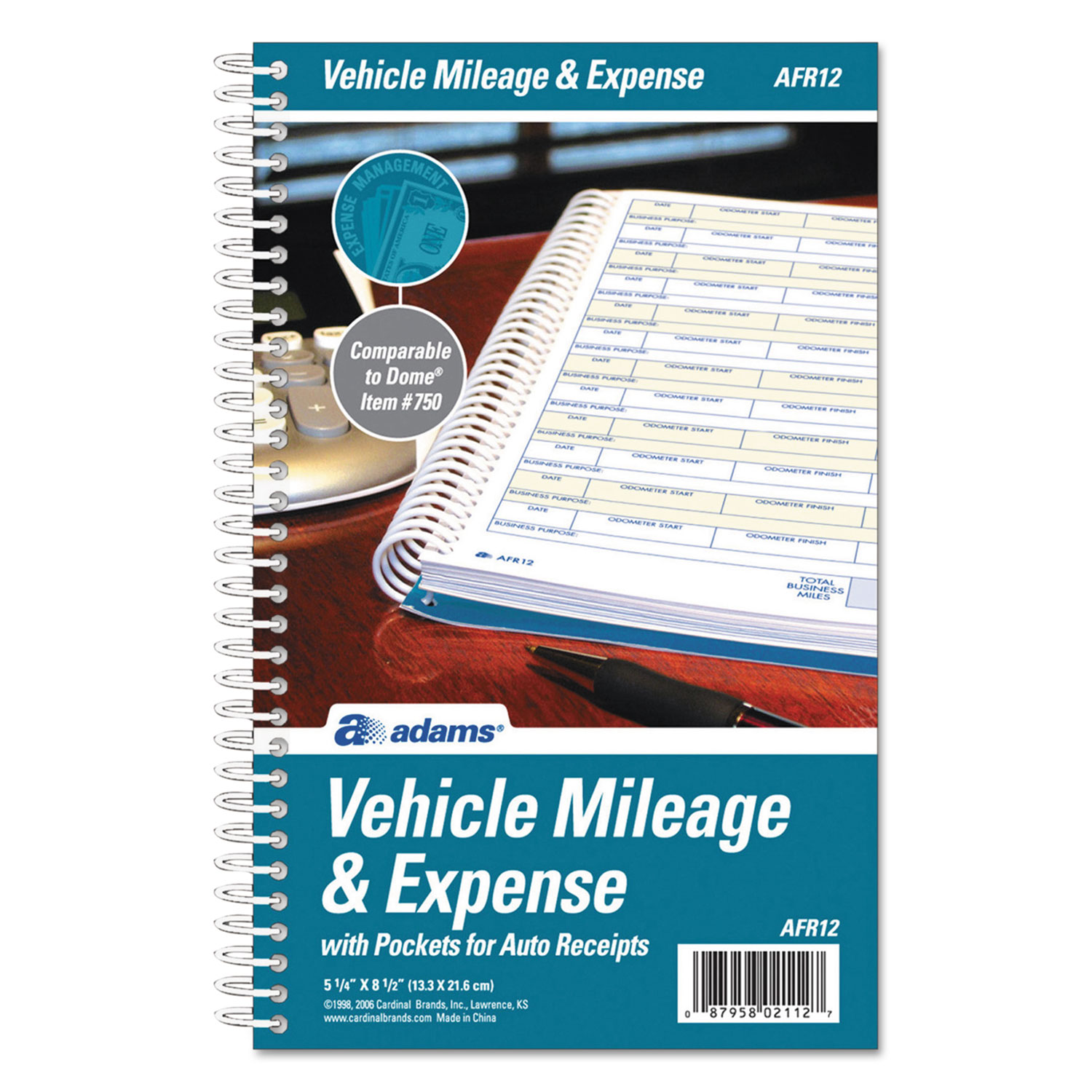 vehicle mileage and expense book by adams abfafr12 ontimesupplies com