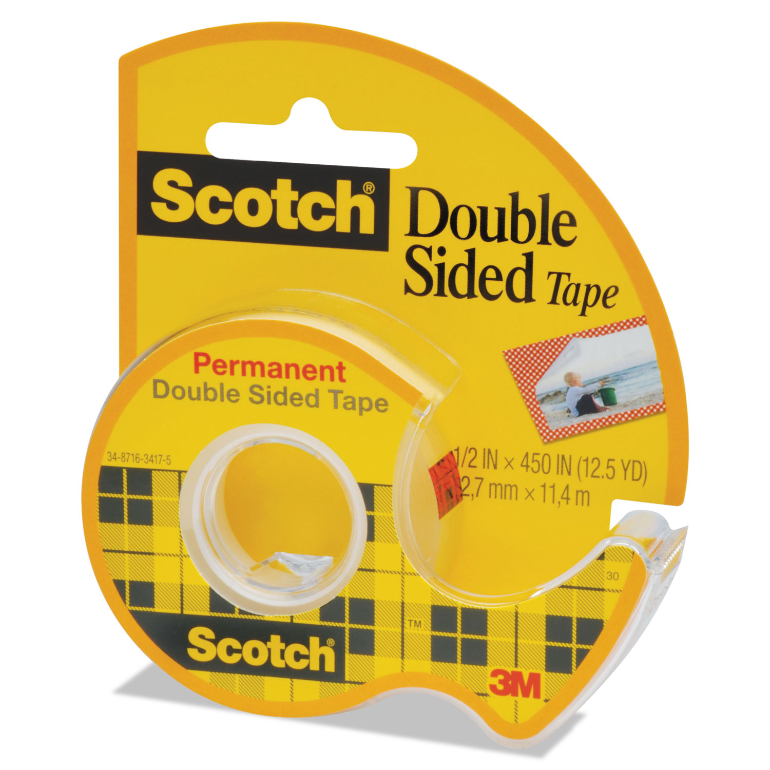 665 double sided permanent tape w hand dispenser by scotch. Black Bedroom Furniture Sets. Home Design Ideas