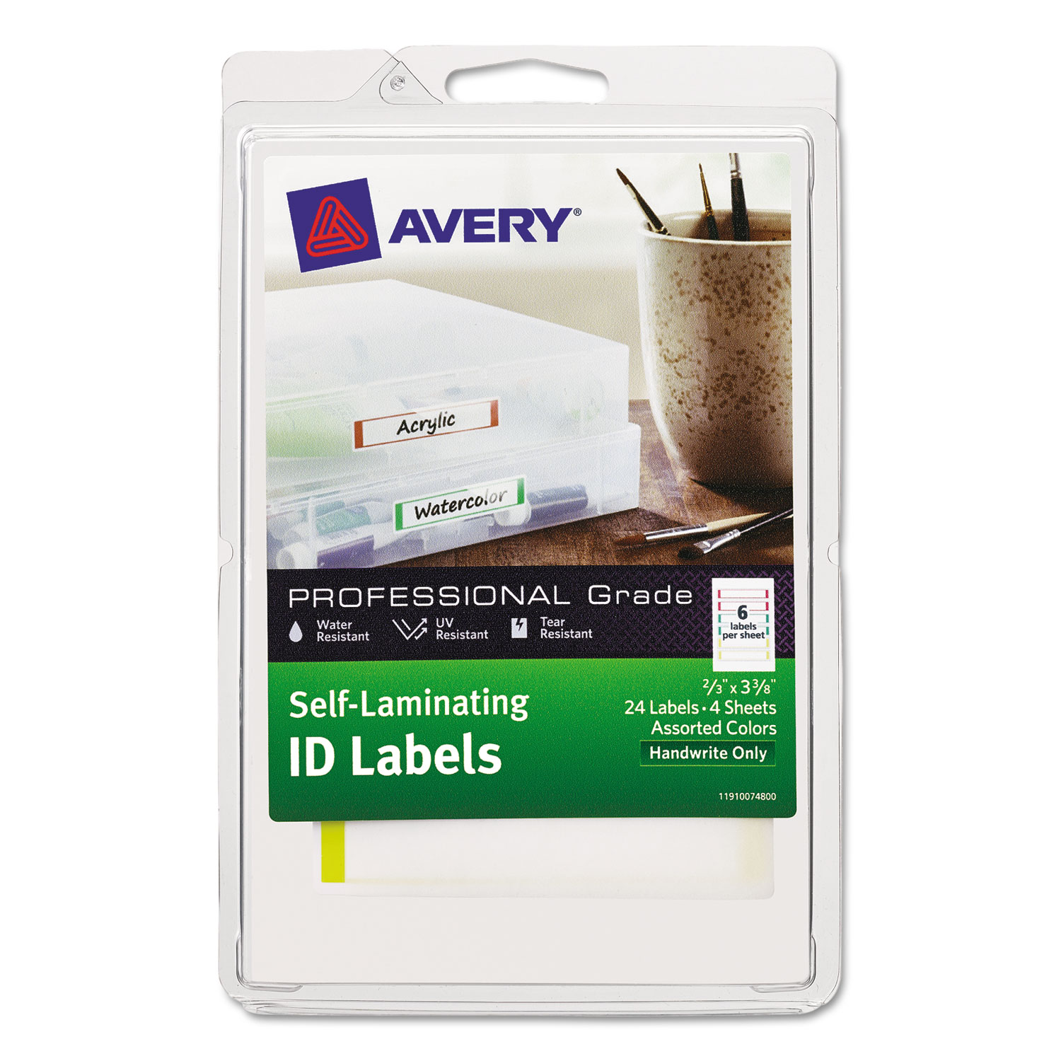 self laminating id labels by avery ave00748 ontimesupplies com