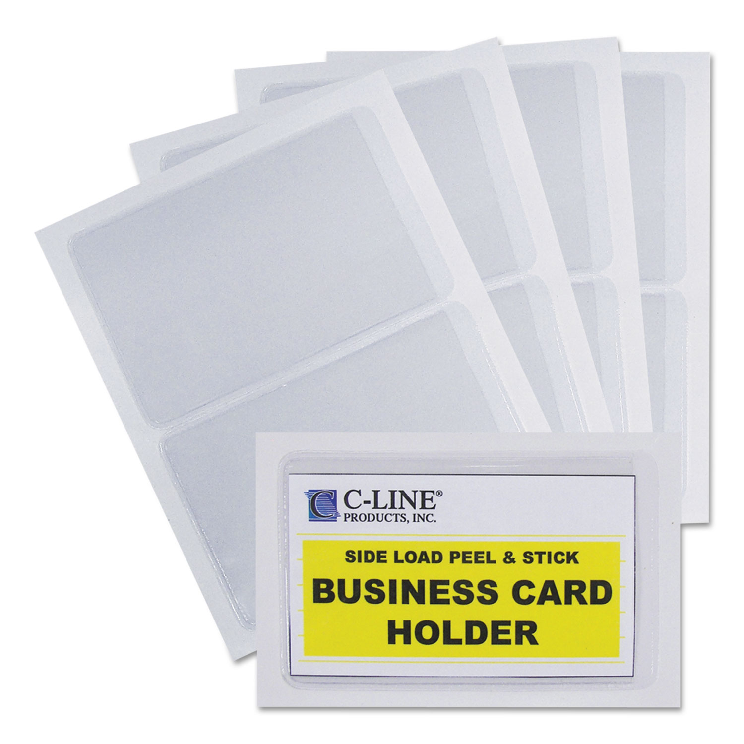 Self adhesive business card holders by c line cli70238 self adhesive business card holders side load 3 12 x 2 clear 10pack magicingreecefo Image collections