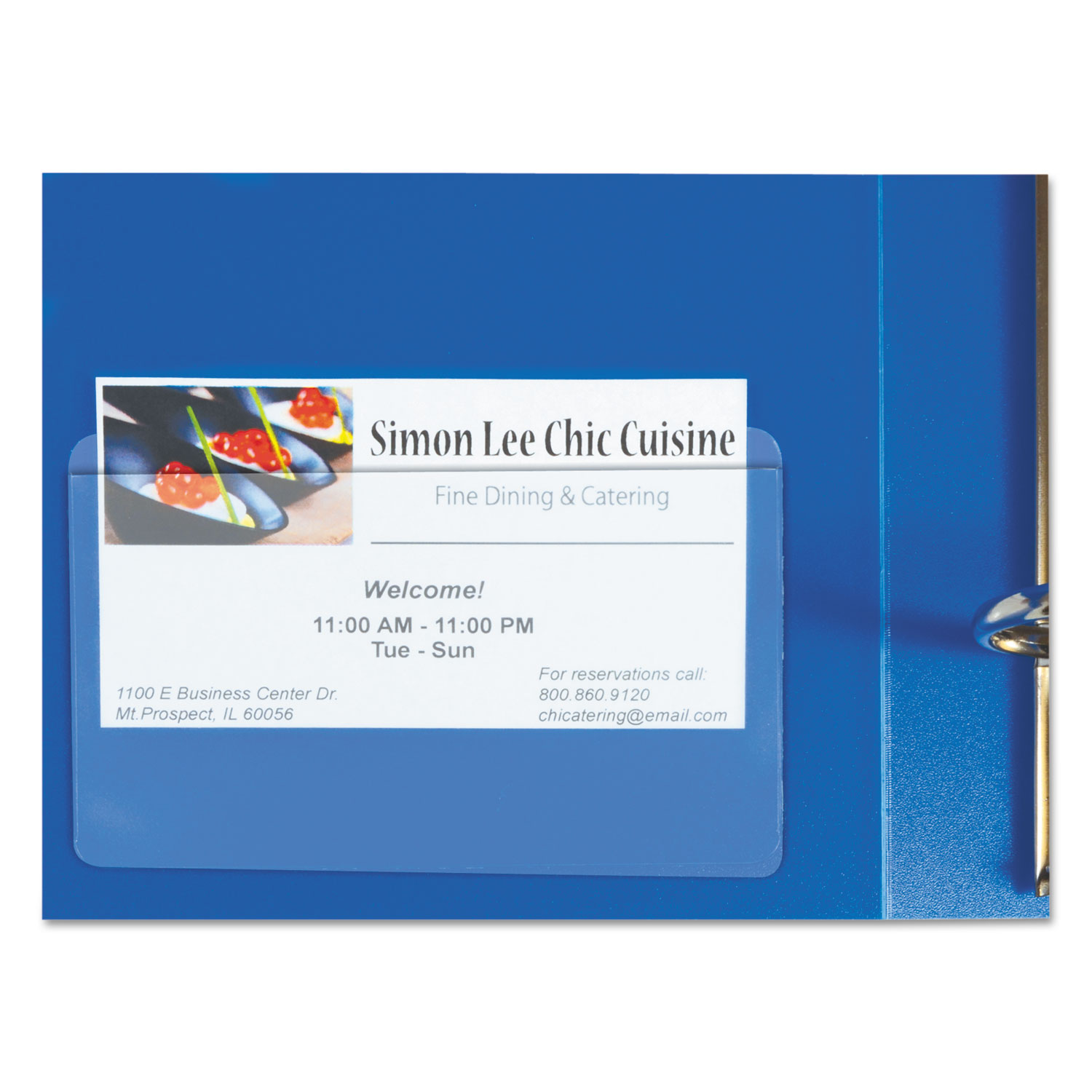 Self-Adhesive Business Card Holders by C-Line® CLI70257 ...