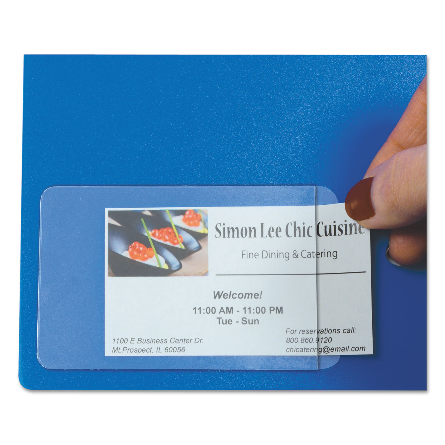 Self-Adhesive Business Card Holders by C-Line® CLI70238 ...