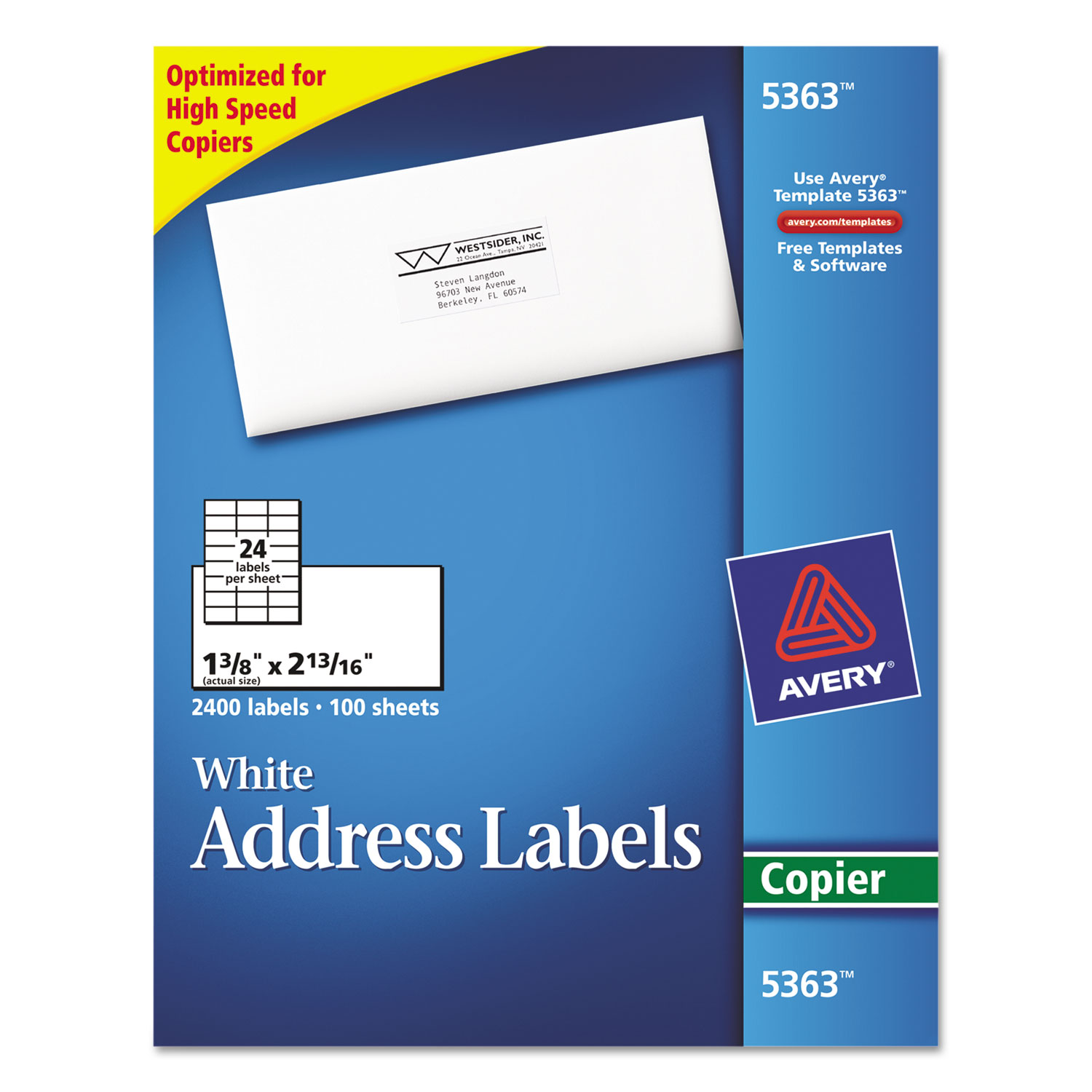 copier address labels by avery ave5363 ontimesupplies com