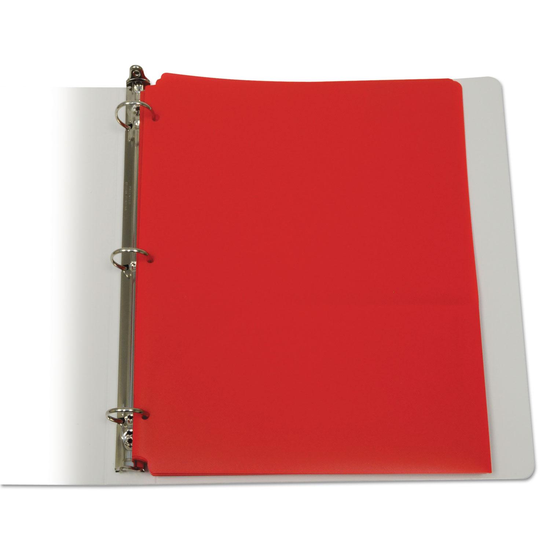 Two-Pocket Heavyweight Poly Portfolio Folder, 3-Hole Punch