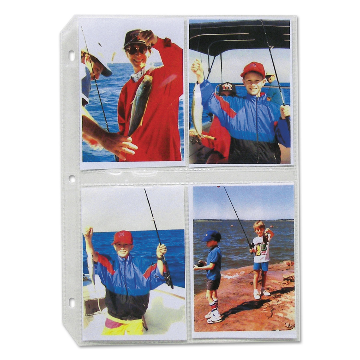 Clear Photo Pages for 8, 3-1/2 x 5 Photos, 3-Hole Punched, 11-1/4 x 8-1/8