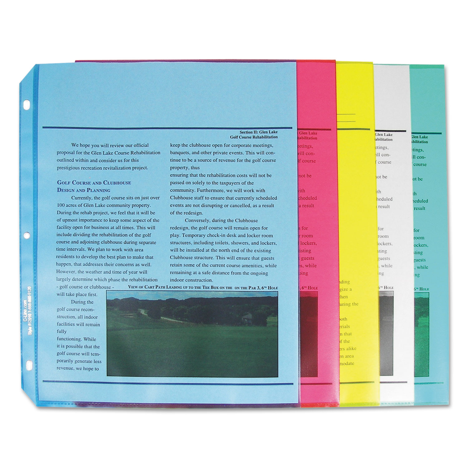 Colored Polypropylene Sheet Protector by C-Line® CLI62010 ...