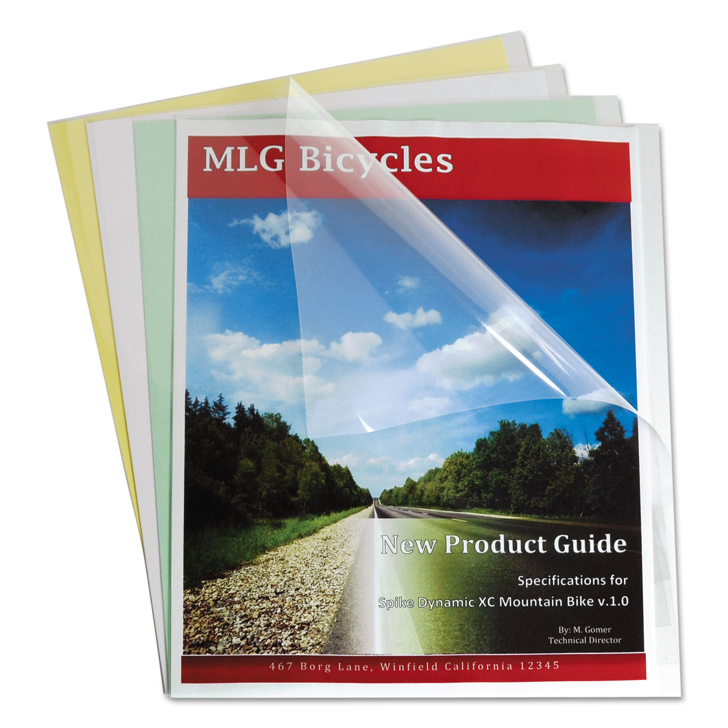 Report Covers, Economy Vinyl, Clear, 8 1/2 x 11, 100/BX CLI31347