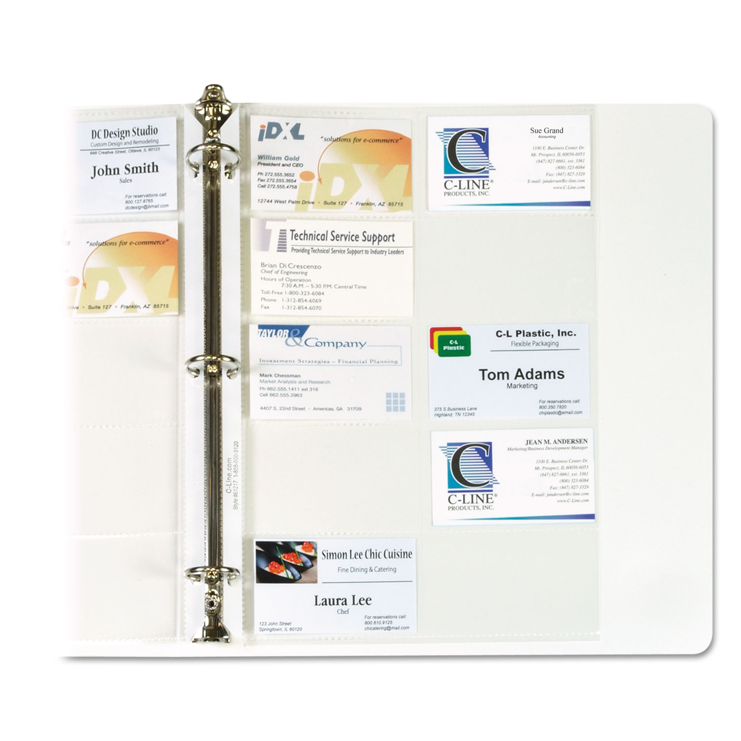 business card binder pagescline� cli61217  ontimesupplies