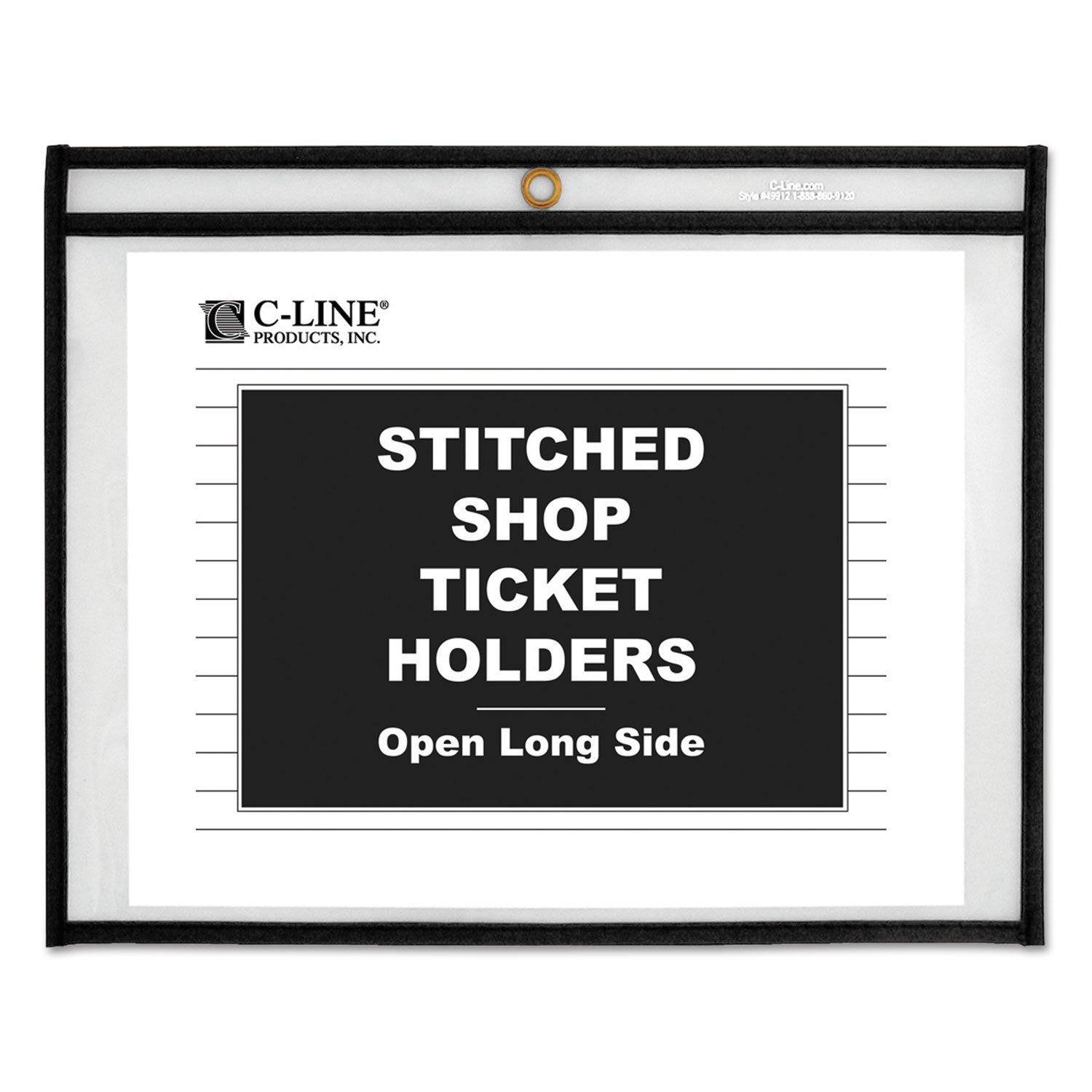 Shop Ticket Holders, Stitched, Sides Clear, 50 Sheets, 11 x 8 1/2, 25/Box