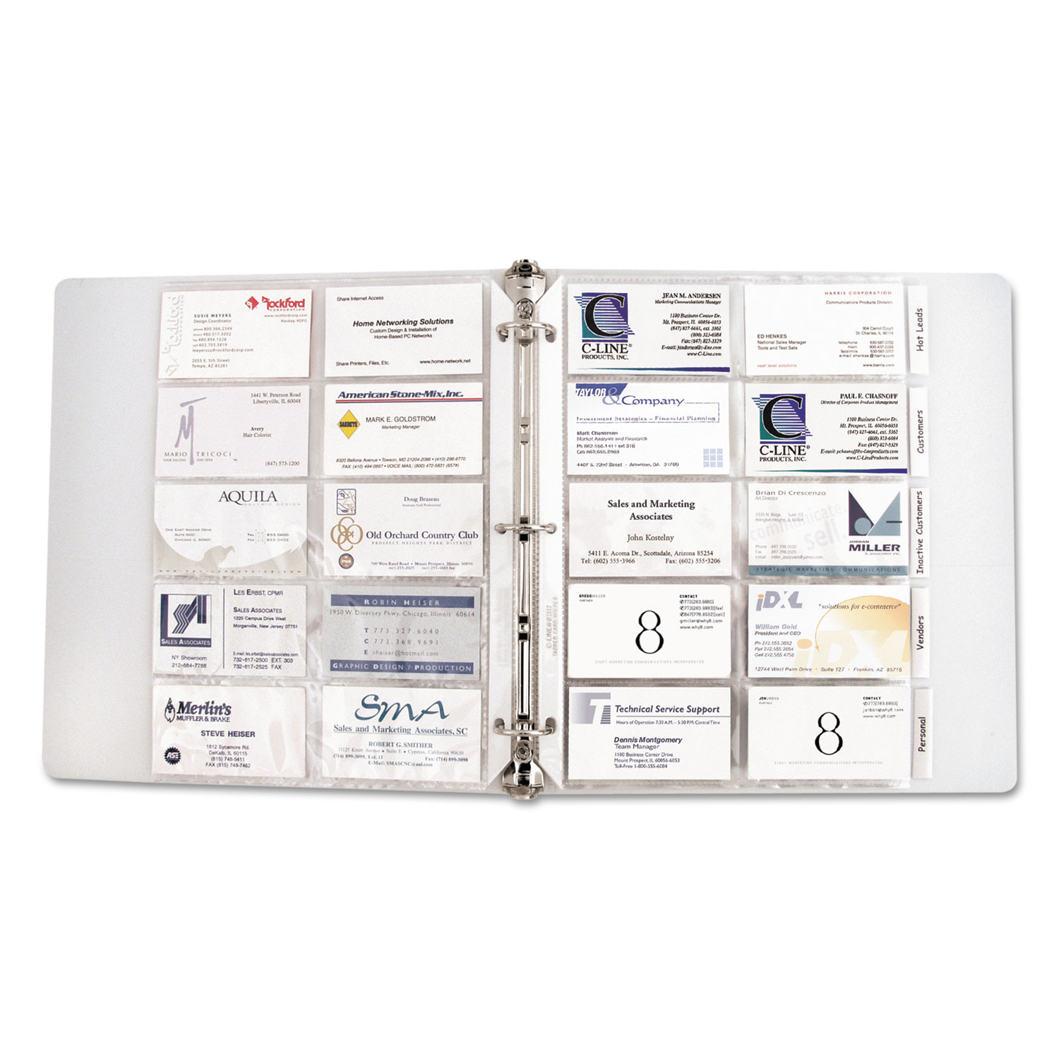New graph Business Card Binder Business Cards