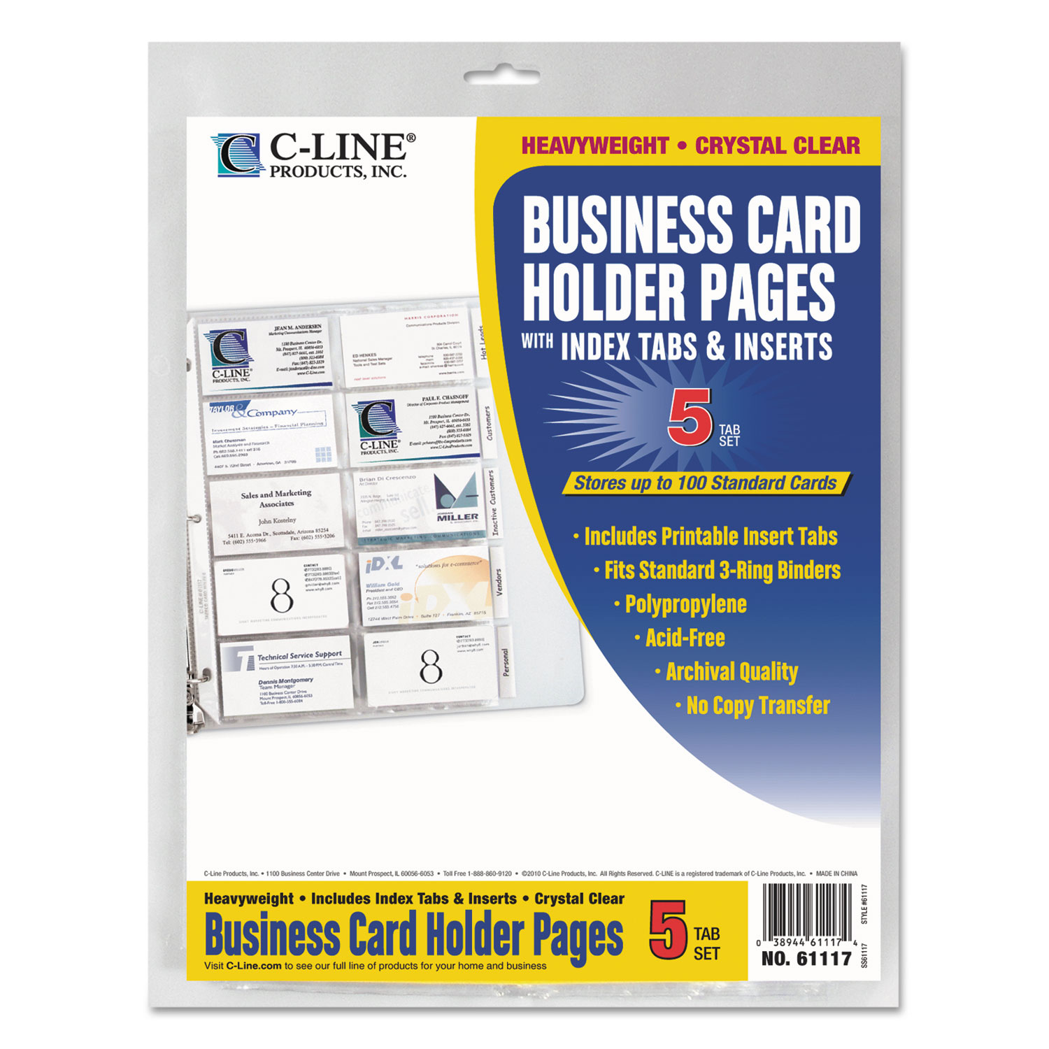 tabbed business card binder pagescline� cli61117