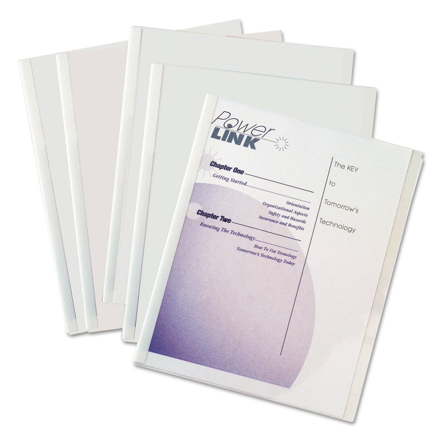 Report Covers with Binding Bars, Economy Vinyl, Clear, 8 1/2 x 11, 50/BX CLI32457