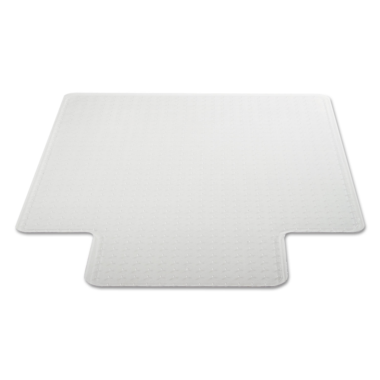 cleated chair mat for low and medium pile carpet by alera